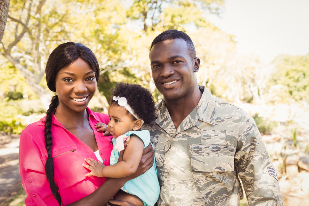 A military veteran and his family